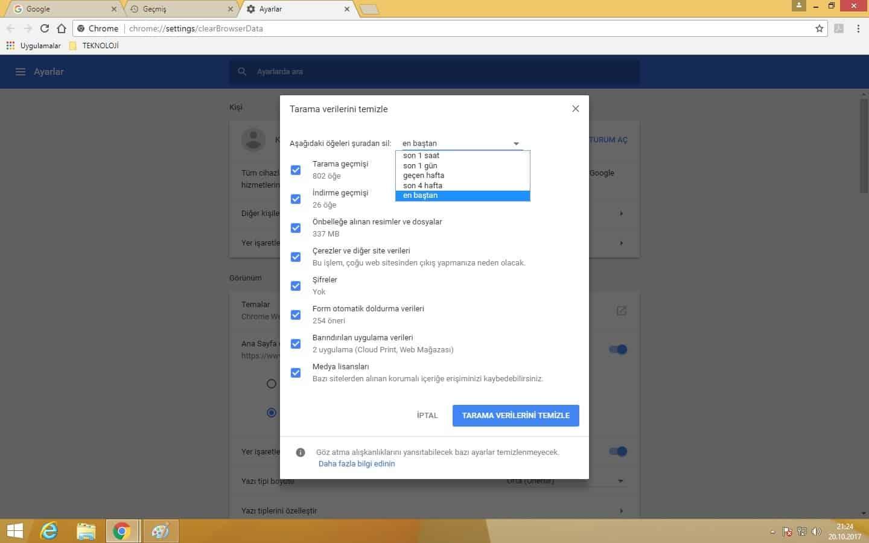 Chrome Kısayol Tuşlarını Kullan