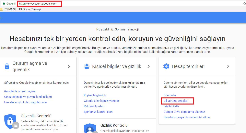 google dil