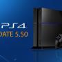 PlayStation 4, Güncelleme 5.50