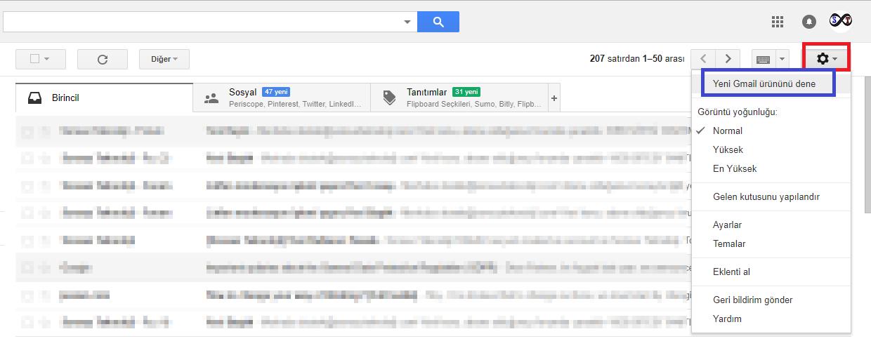 gmail güncelleme