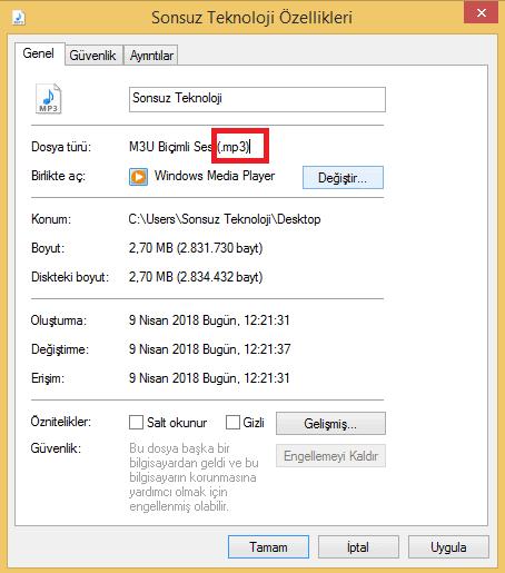 mp3 ses dosyası