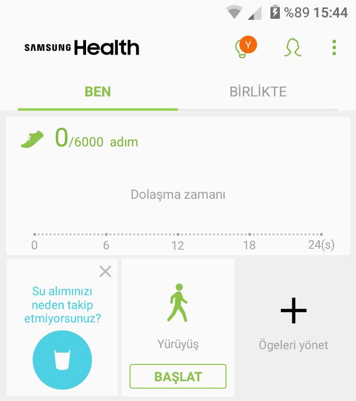 samsung health anasayfa