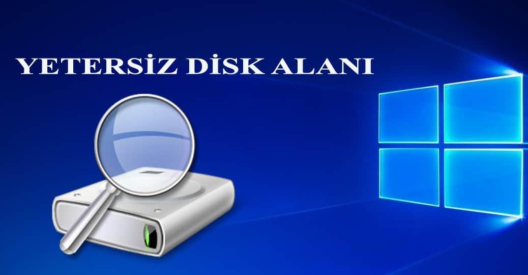 yetersiz disk alanı