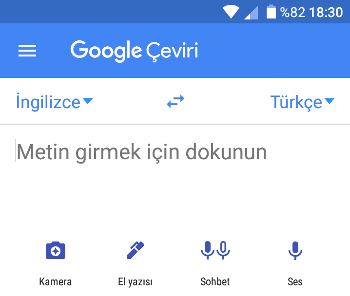 google çevir