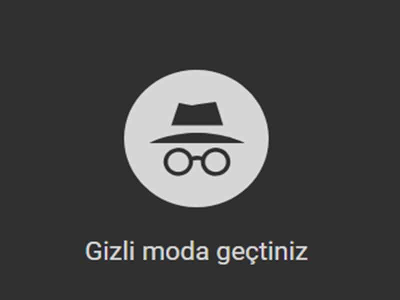 chrome gizli mode