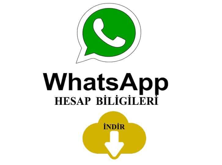 whatsapp hesap bilgileri indir