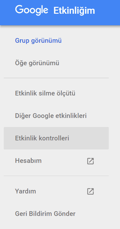 google etkinlik