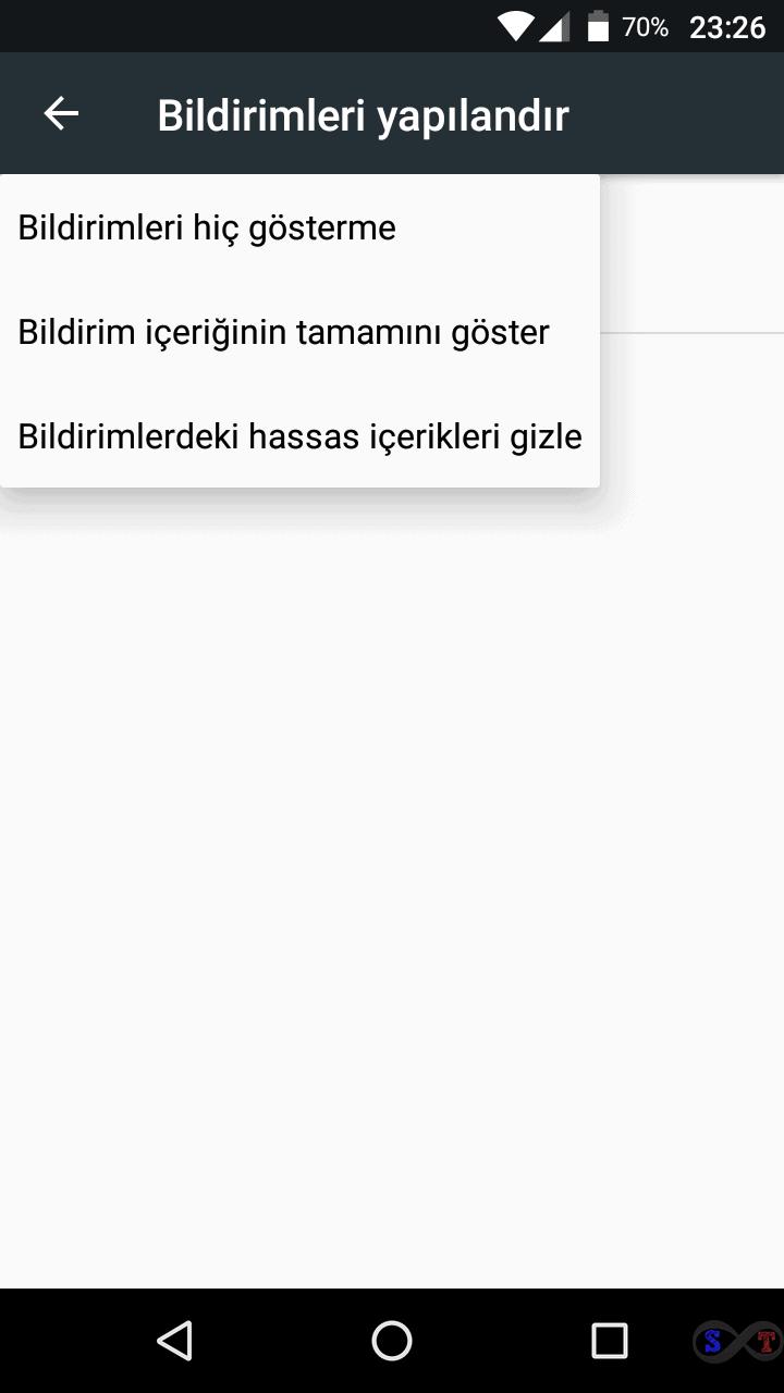 Android ekran bildirim