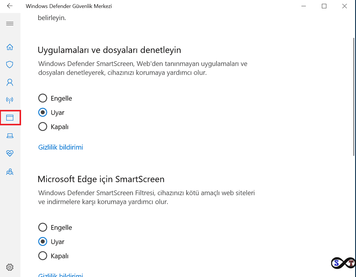 windows defender güvenlik merkezi