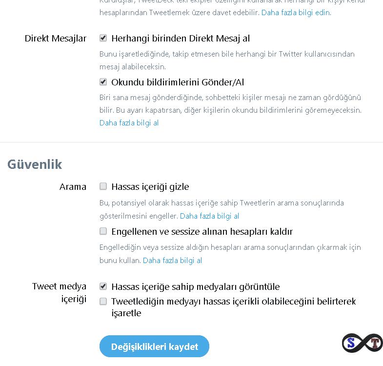 tweet güvenlik