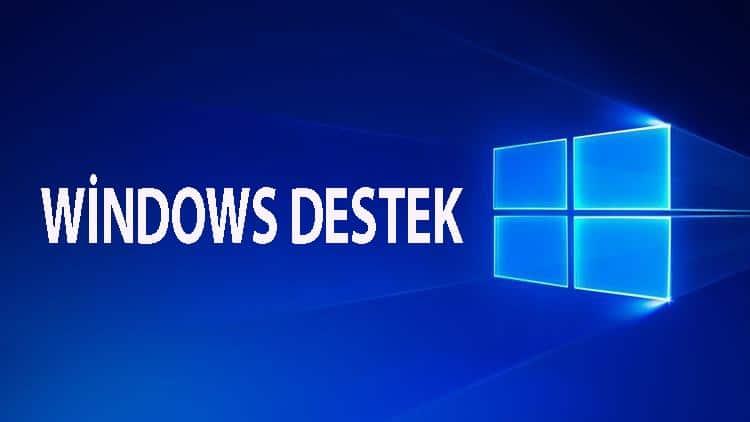 windows destek