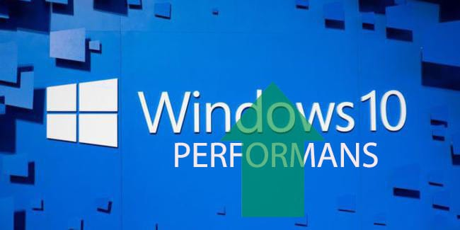 Windows 10 performan hız