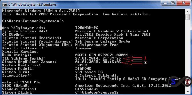 windows format zamanı