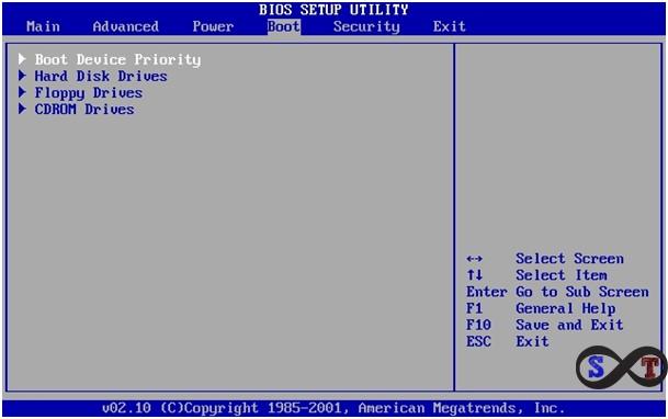 windows 10 bios