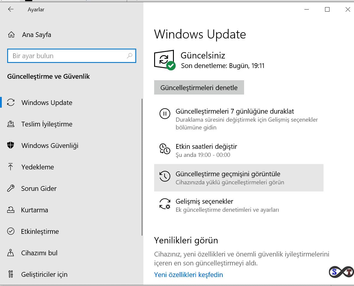 windows 10 güncelleştirmeleri görüntüle