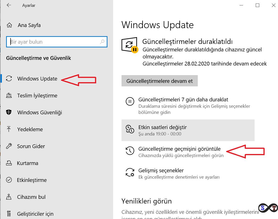 windows güncelleşt