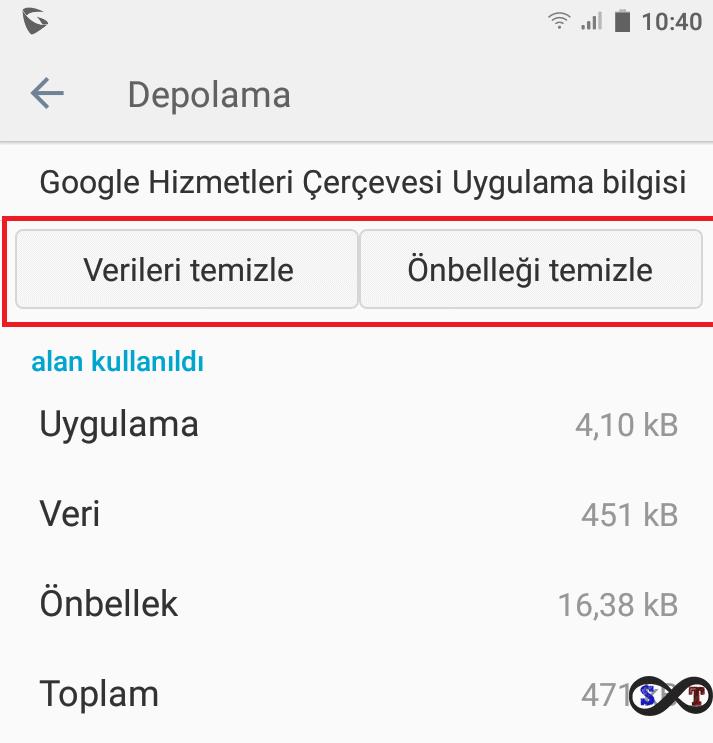 android önbelleği temizle