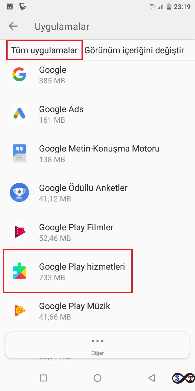 google play hizmetleri