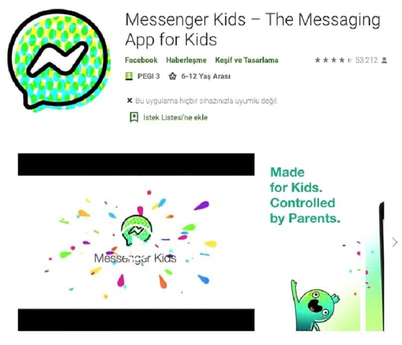 messenger kids nasıl indirlir