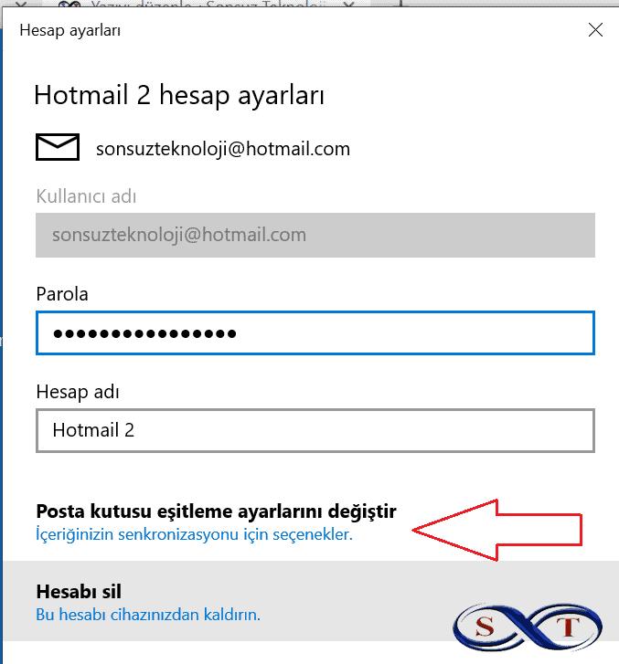 senkron mail