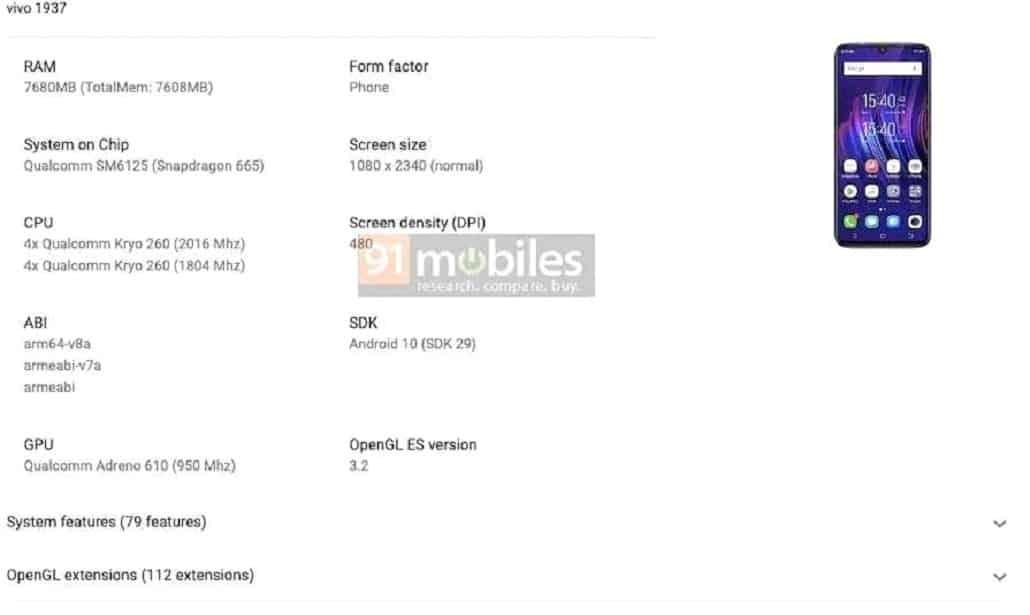 Vivo X50 Lite özellikleri