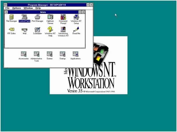 Windows NT Workstation 3.5