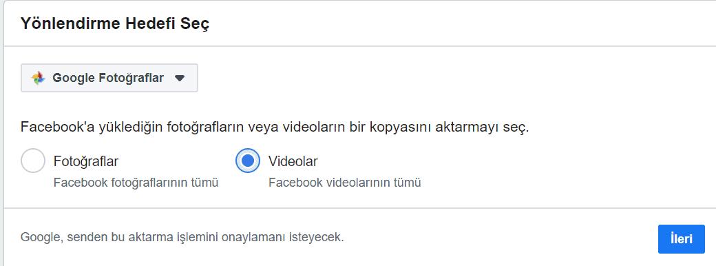 google fotoğraflar yedekle