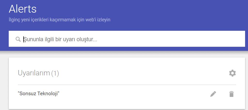 google alerts nasıl kullanılır