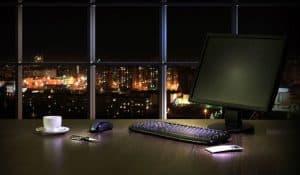 bilgisayar gece açık