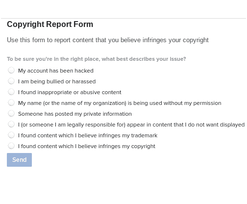 copy right report