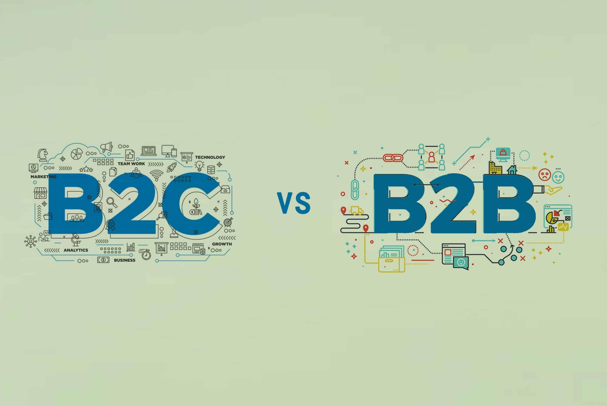 b2c ve b2b
