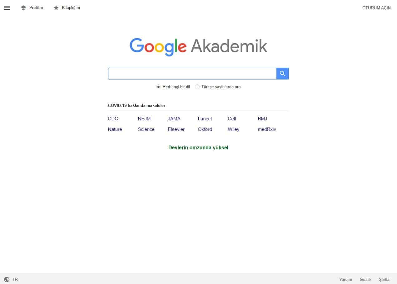 Google Scholar Alıntılar ve Google Akademik Makale