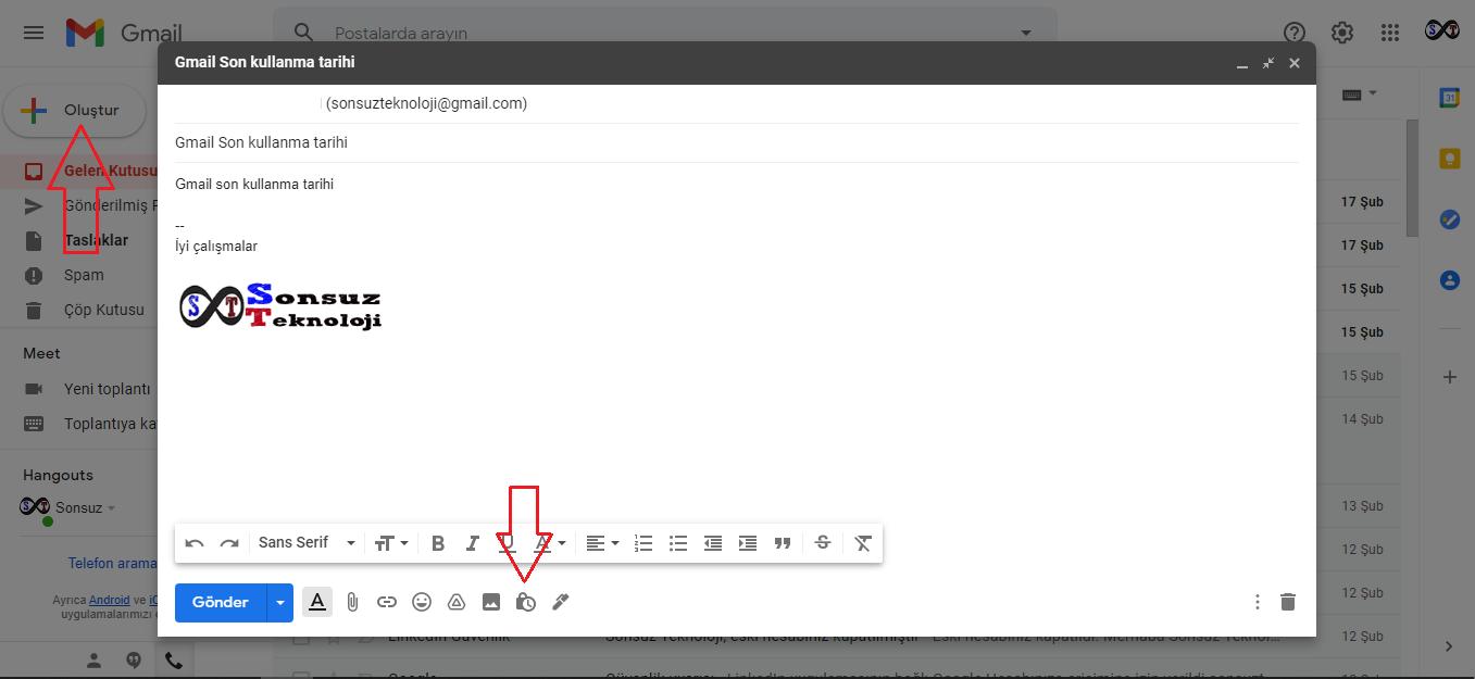 gmail son kullanma