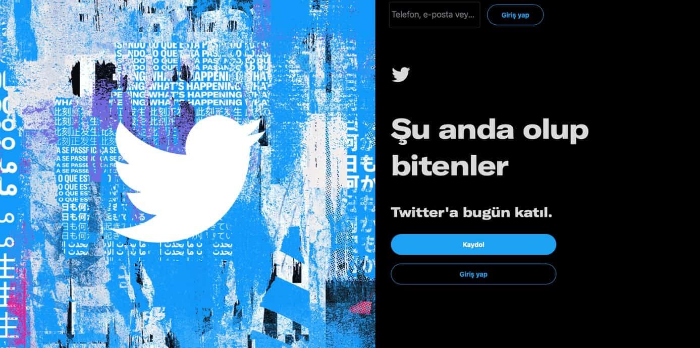 Twitter Hesabına Giriş