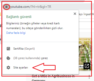 youtube çerez