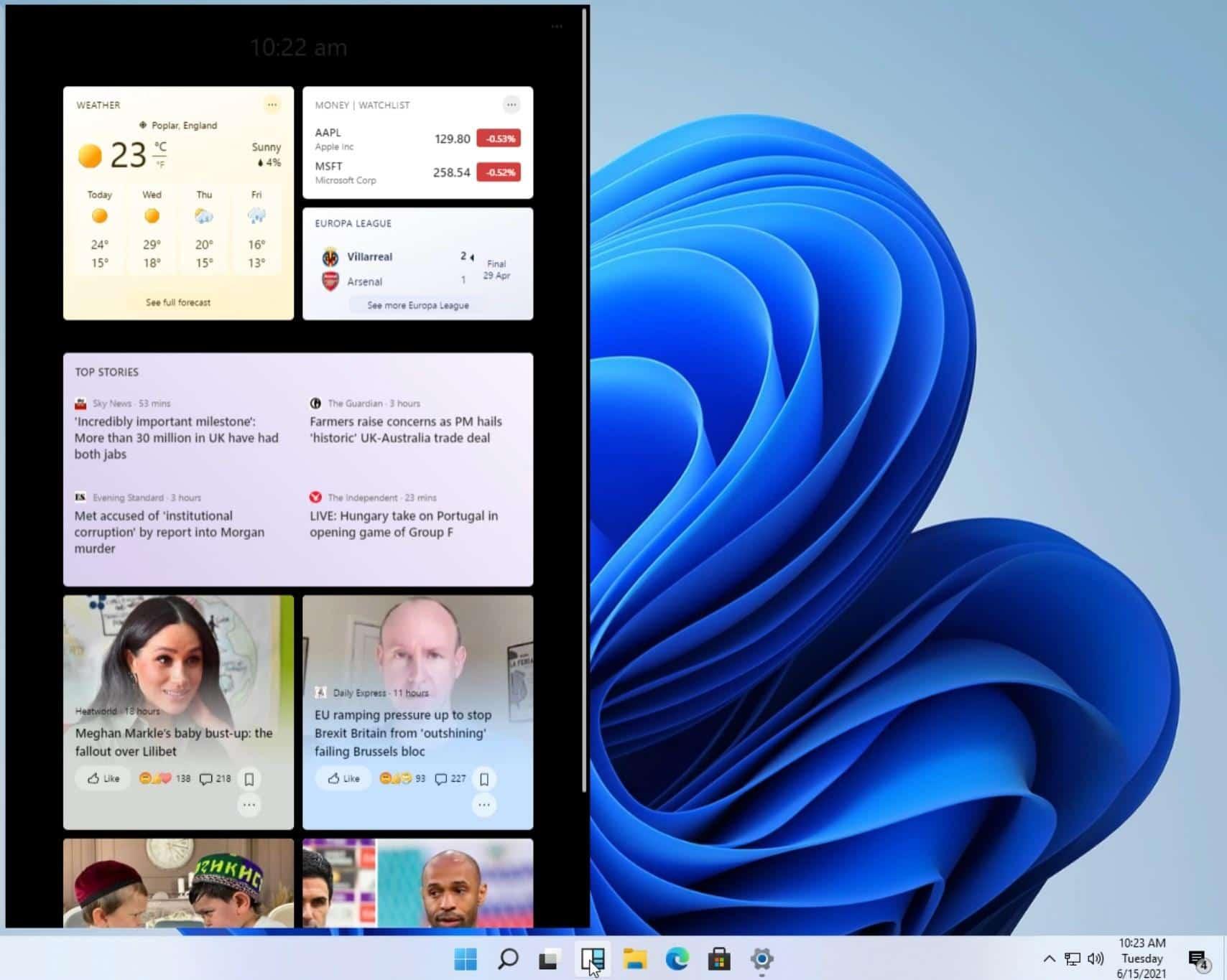 Windows Widget Özelliği