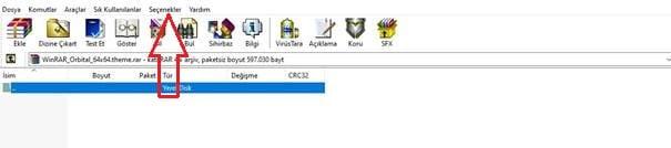 Adımda WinRAR Tema Değiştirme İşlemi
