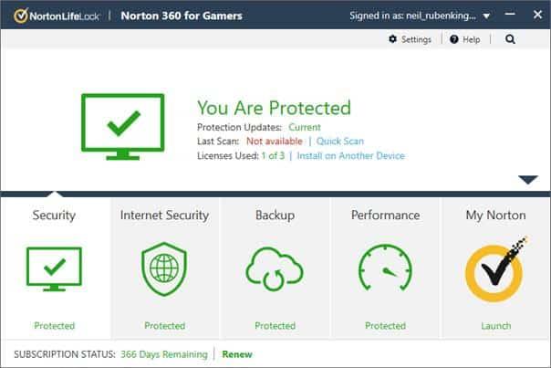 Norton 360 For Gamers Özellikleri