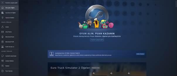 Steam Puan Dükkanına Nasıl Girilir